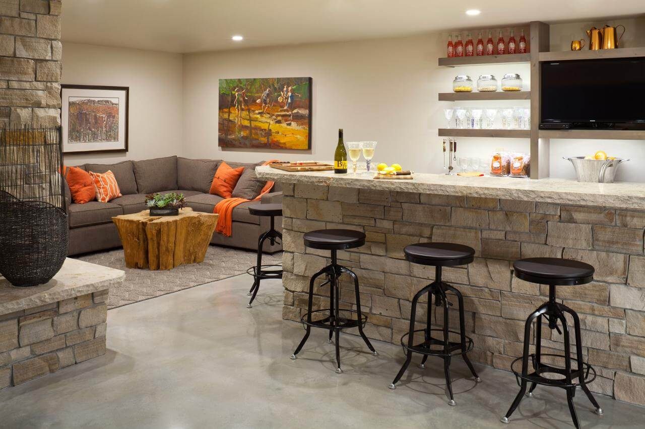 small basement ideas with bar & 17+ Basement Bar Ideas and Tips For Your Basement Creativity - CueThat