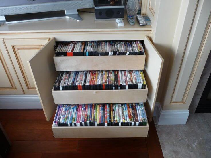 dvd storage ideas without cases