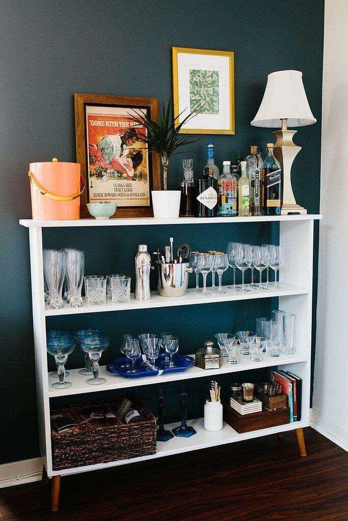 Bookshelves Turn Coffee bar