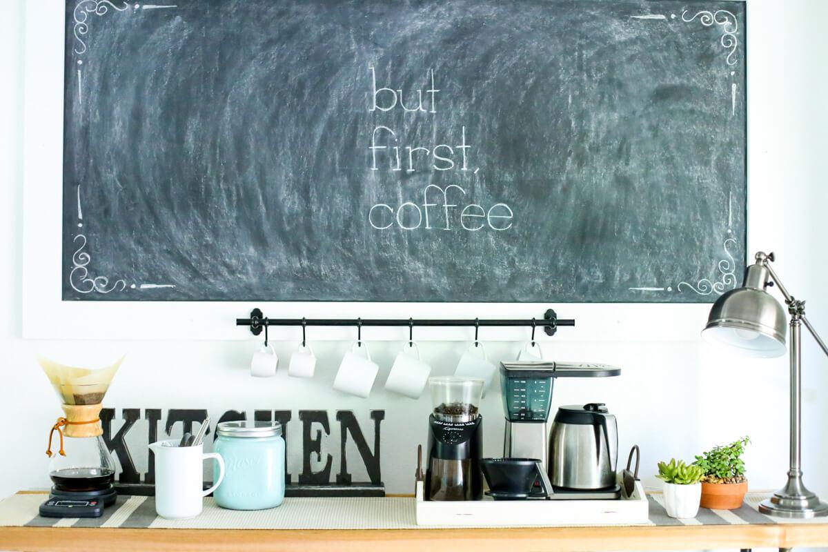 DIY Black Pipe Coffee Station