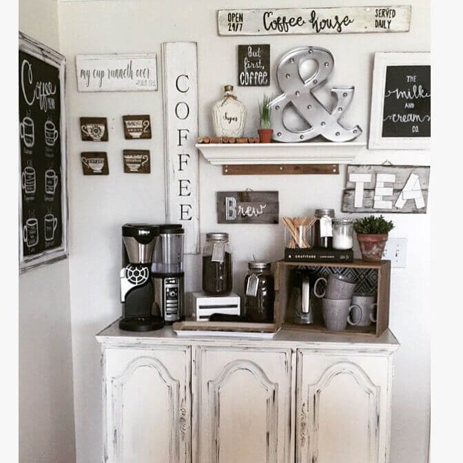 Home Coffee Bar Design Ideas: Small Coffee Bar Ideas