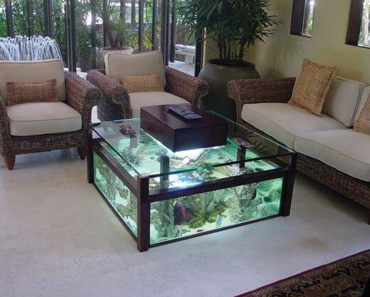 14 splendid diy aquarium furniture ideas to beautify your - Aquarium coffee table diy ...