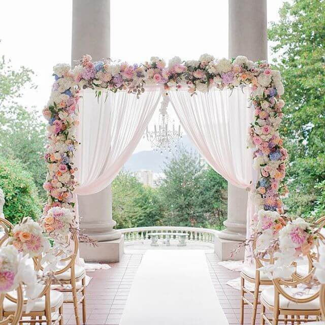 how to make a wedding backdrop