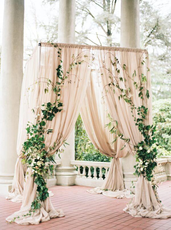 diy wedding reception backdrop