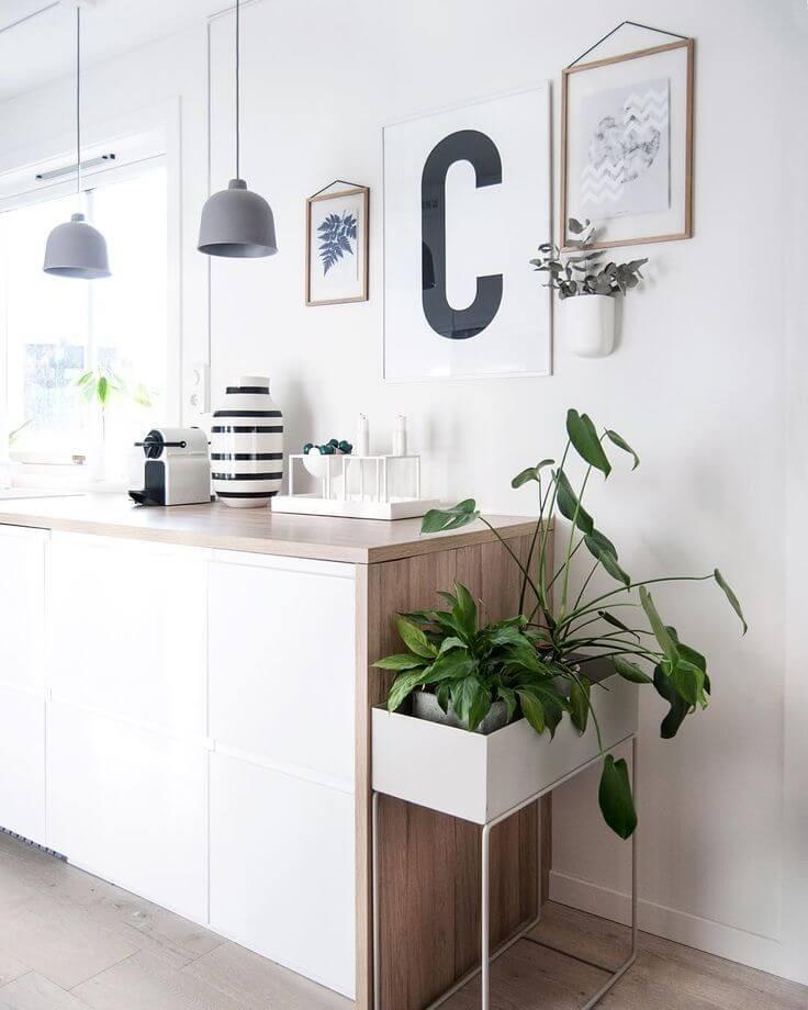 "Vibeke on Instagram: ""Kitchen counter🌿 . C for coffee? Plakat fra www.enkontrast.no ☺️ Håper dere har hatt en fin lørdag! Vi har vært over hele Stockholm i dag…"""