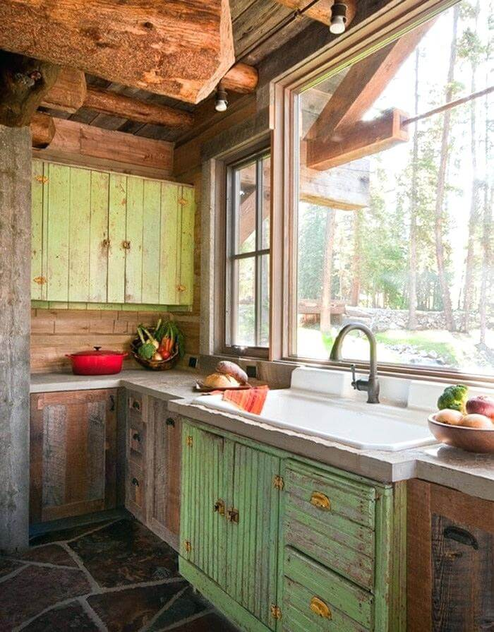 Rustic Vintage Kitchen Cabinets Inspiring Rustic Kitchen And Dining Room Designs