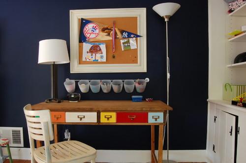 small deck ideas Live-edge wood desk